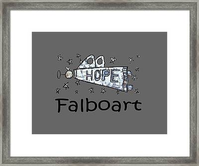 Hope T-shirt Framed Print by Anthony Falbo