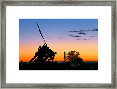 Hopeful As The Dawn Framed Print by Mitch Cat