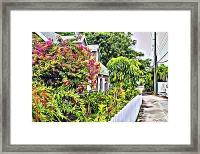 Hopetown Gardens Framed Print by Anthony C Chen