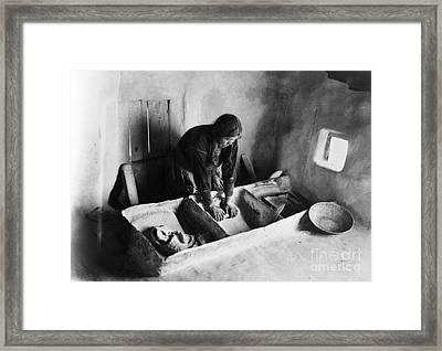 Hopi: Grinding Corn, C1911 Framed Print by Granger