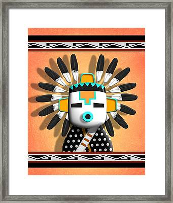 Hopi Kachina Mask Framed Print by John Wills