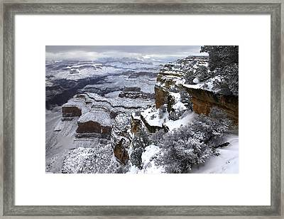 Hopi Pont Snowscape Framed Print by Mike Buchheit