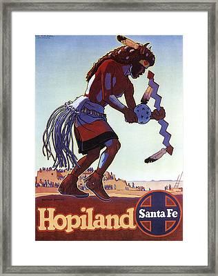 Hopiland Santa Fe Vintage Travel 1949 Framed Print by Daniel Hagerman