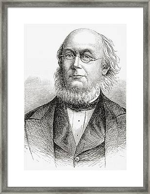 Horace Greeley 1811 To 1872. American Framed Print by Vintage Design Pics
