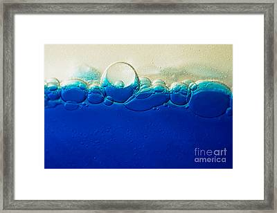 Horizon Of Bubbles By Kaye Menner Framed Print by Kaye Menner