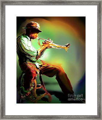 Horn Player II Framed Print by Mike Massengale