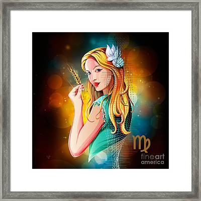 Horoscope Signs-virgo Framed Print by Bedros Awak