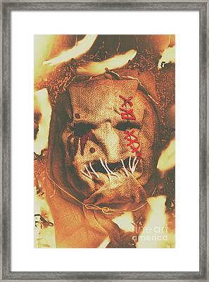 Horror Scarecrow Portrait Framed Print by Jorgo Photography - Wall Art Gallery