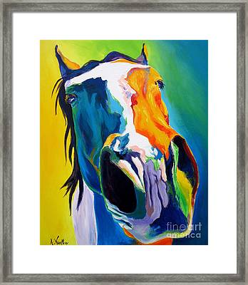 Horse - Up Close And Personal Framed Print by Alicia VanNoy Call