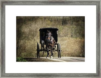 Horse And Buggy Framed Print by Tom Mc Nemar