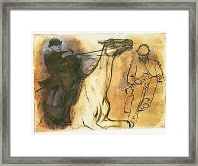 Horse And Rider Framed Print by Edgar Degas