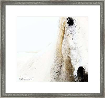 Horse Art - Waiting For You  Framed Print by Sharon Cummings