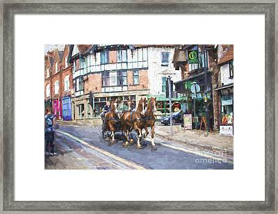 Horse Carriage In Lyndhurst Framed Print by Avalon Fine Art Photography