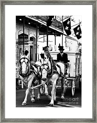 Horse Drawn Funeral Carriage Framed Print by Kathleen K Parker