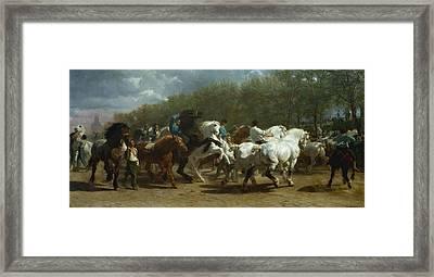 Horse Fair Framed Print by Celestial Images