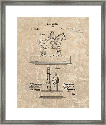 Horse Jockey Toy Patent Framed Print by Dan Sproul