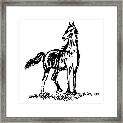 Horse Framed Print by Karl Addison