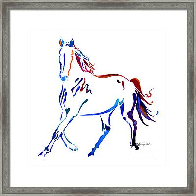 Horse Of Many Colors Framed Print by Jo Lynch