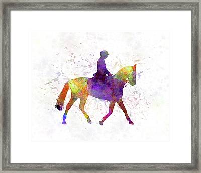 Horse Show 04 In Watercolor Framed Print by Pablo Romero