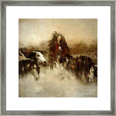 Horse Spirit Guides Framed Print by Shanina Conway