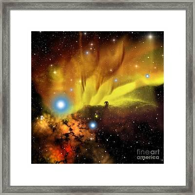 Horsehead Nebula Framed Print by Corey Ford