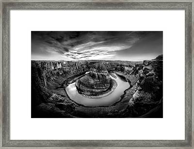 Horseshoe Bend Bw Framed Print by Az Jackson