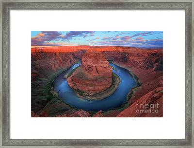 Horseshoe Bend Sunrise Framed Print by Inge Johnsson