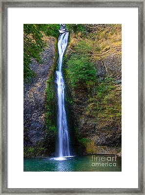 Horsetail Waterfall Framed Print by Robert Bales