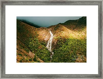 Horsetail Waterfalls Tasmania  Framed Print by Jorgo Photography - Wall Art Gallery