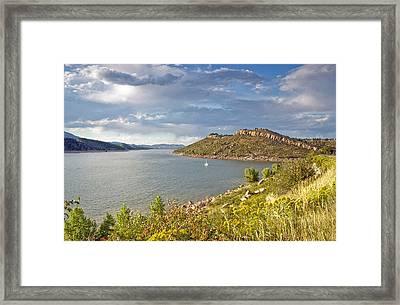 Horsetooth Dam Co Framed Print by James Steele
