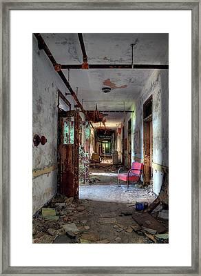 Hospital Hallway Framed Print by Murray Bloom