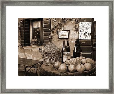 Hostaria Alla Rocca Framed Print by Donna Corless