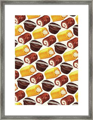 Hostess Cakes Pattern Framed Print by Kelly Gilleran