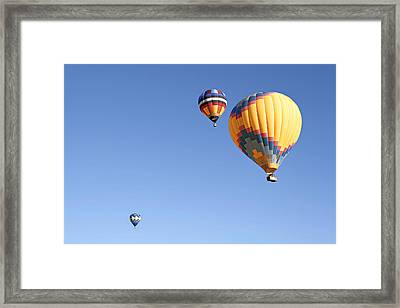Hot Air Balloon Ride A Special Adventure Framed Print by Christine Till