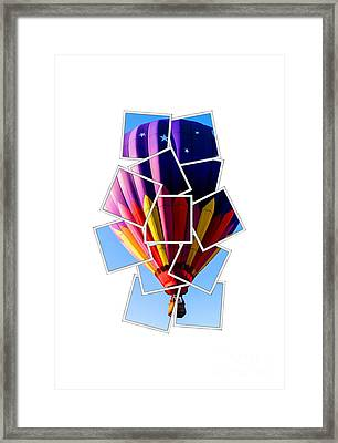Hot Air Ballooning Tee Framed Print by Edward Fielding
