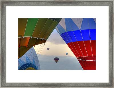 Hot Air Balloons Cappadocia Framed Print by Joana Kruse