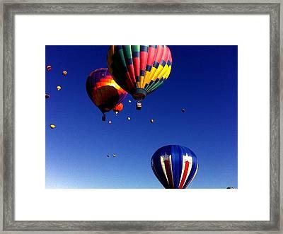 Hot Air Balloons Framed Print by Jera Sky