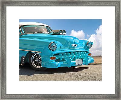Hot Chevy Blues Framed Print by Gill Billington
