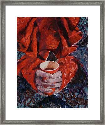 Hot Chocolate Framed Print by Elisabeth De Vries