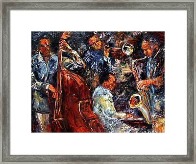 Hot Jazz Three Framed Print by Debra Hurd