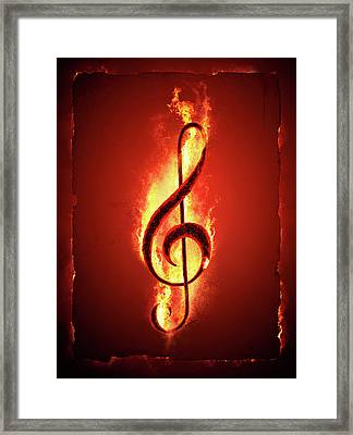 Hot Music Framed Print by Johan Swanepoel