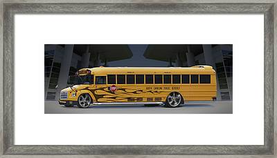 Hot Rod School Bus Framed Print by Mike McGlothlen