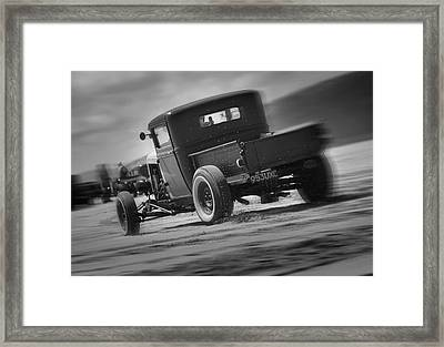Hot Rods At Pendine 13 Framed Print by Phil Fitzsimmons