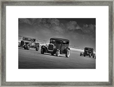Hot Rods At Pendine 15 Framed Print by Phil Fitzsimmons