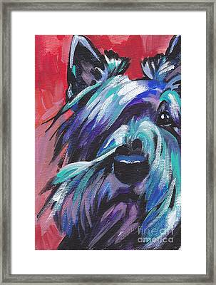 Hot Scot Framed Print by Lea S