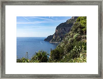 Hot Seaside Afternoon - Mediterranean Magic Of Capri Framed Print by Georgia Mizuleva