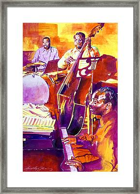 Hot Sessions - Count Basie Framed Print by David Lloyd Glover