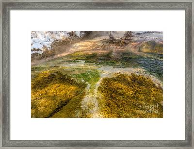Hot Springs Pool Framed Print by Sue Smith