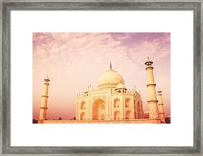 Hot Taj Mahal Framed Print by Nila Newsom