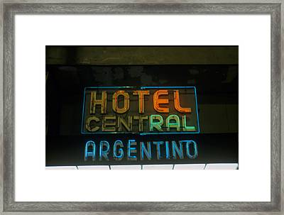 Hotel Central Argentino Framed Print by Dan Albright